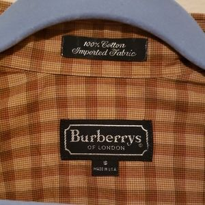 Mens vintage Burberry plaid shirt